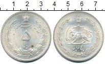 Изображение Монеты Иран 5 риалов 1934 Серебро UNC-