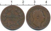 Изображение Монеты Германия Баден 1 крейцер 1851 Медь VF