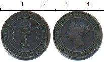 Изображение Монеты Цейлон 1 цент 1870 Медь VF