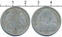 Изображение Монеты Индокитай 10 центов 1945 Алюминий XF
