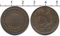 Изображение Монеты Тунис 5 сентим 1891 Бронза VF