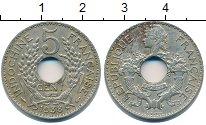 Изображение Монеты Индокитай 5 центов 1938 Медно-никель XF-
