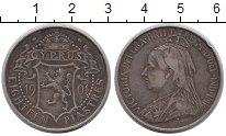 Изображение Монеты Кипр 18 пиастр 1901 Серебро XF-