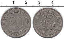 Изображение Монеты Германия 20 пфеннигов 1888 Медно-никель XF