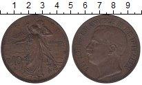 Изображение Монеты Италия 10 сентесим 1911 Бронза XF 50 лет Объединенному