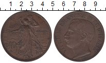 Изображение Монеты Италия 10 сентесим 1911 Бронза XF
