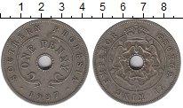 Изображение Монеты Родезия 1 пенни 1937 Медно-никель XF-