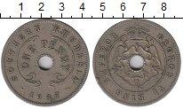 Изображение Монеты Великобритания Родезия 1 пенни 1937 Медно-никель XF-