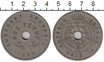 Изображение Монеты Великобритания Родезия 1 пенни 1938 Медно-никель XF-