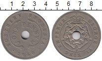 Изображение Монеты Великобритания Родезия 1 пенни 1940 Медно-никель XF-