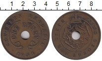 Изображение Монеты Великобритания Родезия 1 пенни 1951 Бронза XF-