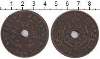 Изображение Монеты Великобритания Родезия 1 пенни 1943 Бронза XF-