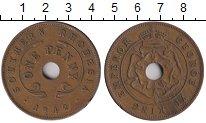 Изображение Монеты Родезия 1 пенни 1942 Бронза XF-