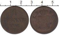 Изображение Монеты Германия Саксония 1 пфенниг 1852 Медь VF