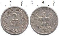 Изображение Монеты Веймарская республика 2 марки 1927 Серебро XF
