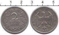 Изображение Монеты Веймарская республика 2 марки 1926 Серебро VF Герб G