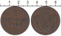 Изображение Монеты Саксония 1 пфенниг 1806 Медь XF-