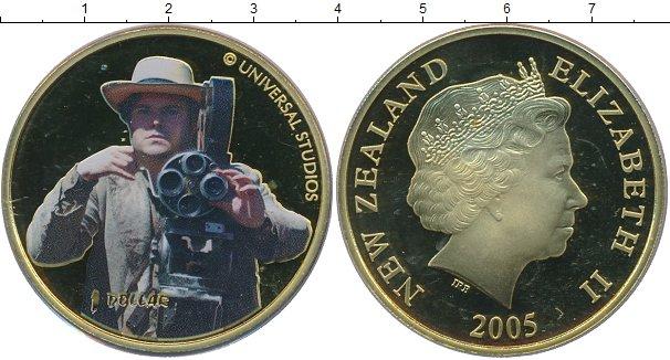 Картинка Монеты Новая Зеландия 1 доллар Латунь 2005
