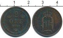 Изображение Монеты Швеция 2 эре 1897 Бронза XF Оскар II
