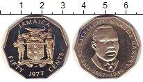 Изображение Монеты Ямайка 50 центов 1977 Медно-никель Proof- Маркус  Гарвей.