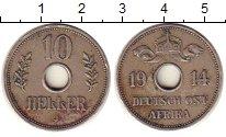 Монета Немецкая Африка 10 хеллеров Медно-никель 1914 XF