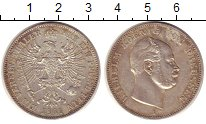 Изображение Монеты Пруссия 1 талер 1861 Серебро XF Вильгельм.