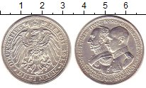 Изображение Монеты Мекленбург-Шверин 3 марки 1915 Серебро XF+