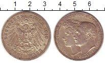 Изображение Монеты Саксен-Веймар-Эйзенах 3 марки 1910 Серебро XF Свадьба  Вильгельма