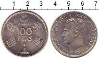 Изображение Монеты Испания 100 песет 1980 Медно-никель UNC- ЧМ по футболу-82