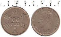 Изображение Монеты Испания 100 песет 1980 Медно-никель XF