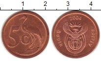 Изображение Монеты ЮАР 5 центов 2004 Бронза UNC-