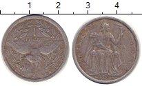 Изображение Монеты Новая Каледония 1 франк 1977 Алюминий XF-