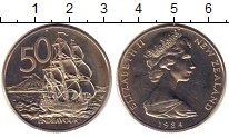 Изображение Монеты Новая Зеландия 50 центов 1984 Медно-никель UNC-