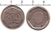 Изображение Монеты Испания 200 песет 1986 Медно-никель XF Хуан Карлос I