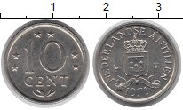 Изображение Монеты Антильские острова 10 центов 1971 Медно-никель XF