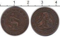 Изображение Монеты Испания 2 сентима 1870 Бронза XF