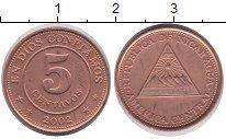 Изображение Монеты Никарагуа 5 сентаво 2002 Бронза XF