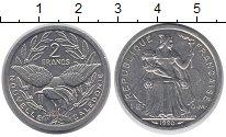 Изображение Монеты Новая Каледония 2 франка 1990 Алюминий UNC-