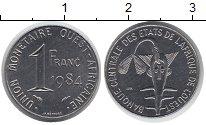 Изображение Монеты Западно-Африканский Союз 1 франк 1984 Медно-никель XF