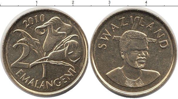 Картинка Монеты Свазиленд 2 эмалангени Латунь 2010