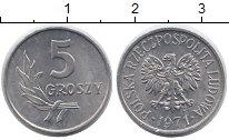 Изображение Монеты Польша 5 грош 1971 Алюминий UNC-