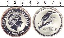 Изображение Монеты Австралия 1 доллар 2003 Серебро Proof Кукабарра