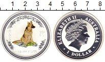 Изображение Монеты Австралия 1 доллар 2006 Серебро Proof Год собаки.