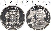 Изображение Монеты Ямайка 10 долларов 1976 Серебро Proof Горацио Нельсон
