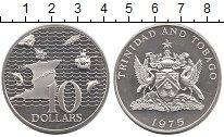 Изображение Монеты Тринидад и Тобаго 10 долларов 1975 Серебро Proof