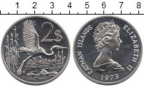 Изображение Монеты Каймановы острова 2 доллара 1973 Серебро UNC