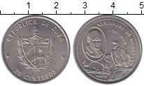 Изображение Монеты Куба 25 сентаво 1988 Медно-никель XF