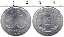 Изображение Монеты ГДР 50 пфеннигов 1982 Алюминий UNC