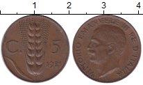 Изображение Монеты Италия 5 сентим 1921 Бронза XF
