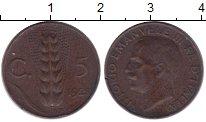 Изображение Монеты Италия 5 сентим 1928 Бронза XF